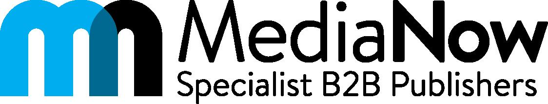 MediaNow logo cyan & black